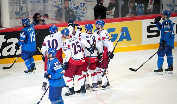11 мая 2012 года. Стокгольм. Чемпионат мира. Групповой турнир. Италия — Чехия — 0:6