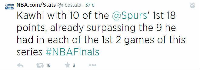 Кавай Леонард набрал больше очков за первую половину первой четверти. чем в каждой из предыдущих игр, а именно 10 из 18 очков своей команды.