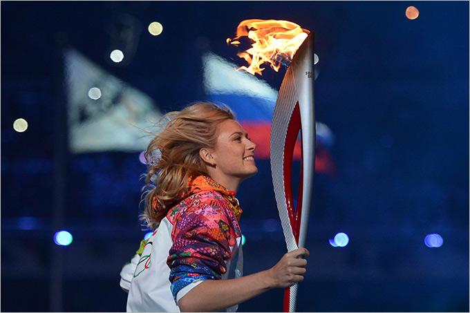 Шарапова приняла участие в зажжении олимпийского огня