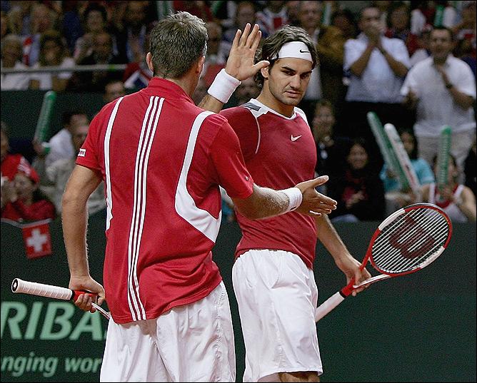 Федерер вывел свою сборную в плэй-офф