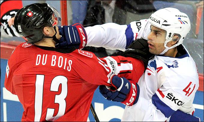 12 мая 2012 года. Хельсинки. Чемпионат мира. Групповой турнир. Швейцария — Франция — 2:4