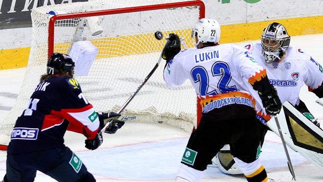 16 сентября 2014 года. Братислава. Регулярный чемпионат КХЛ. «Слован» — «Северсталь» — 0:3
