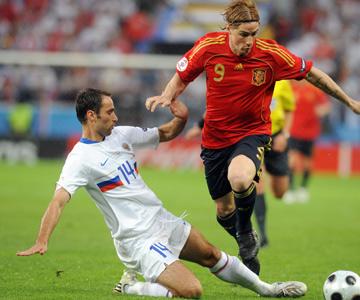 2008 год. Евро-2008. Роман Широков в матче против Испании