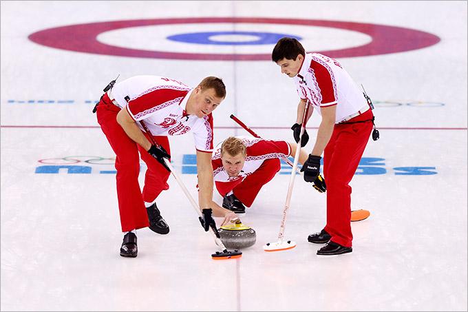 В игре мужская сборная России по кёрлингу