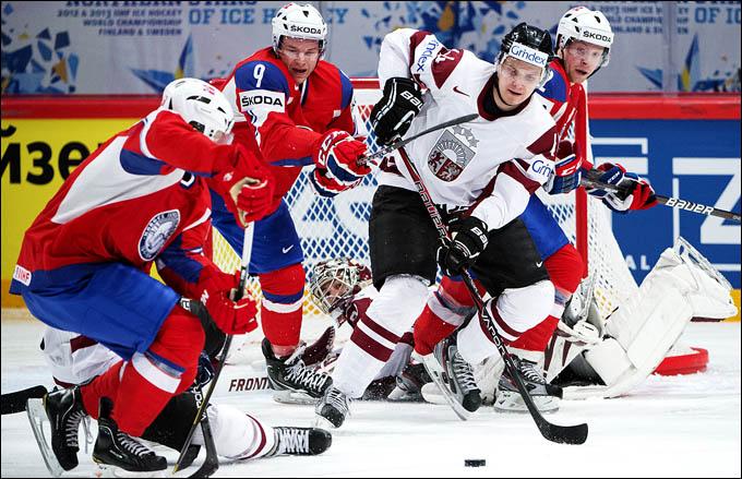 12 мая 2012 года. Стокгольм. Чемпионат мира. Групповой турнир. Норвегия — Латвия — 3:0