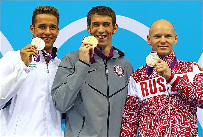 Евгений Коротышкин на олимпийском пьедестале