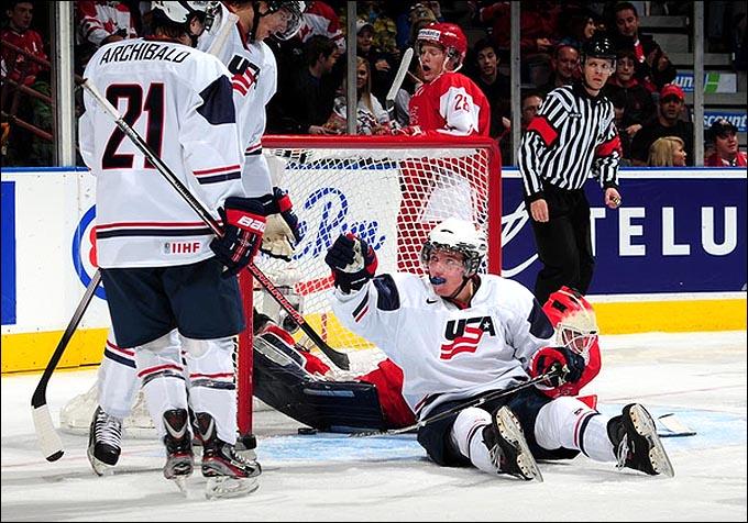 26 декабря 2011 года. Эдмонтон. Молодежный чемпионат мира. Дания — США — 3:11