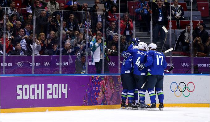 15 февраля 2014 года. Сочи. XXII зимние Олимпийские игры. Хоккей. Групповой этап. Словакия — Словения — 1:3