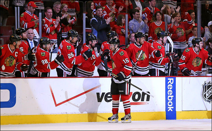 """9 мая 2013 года. Чикаго. Плей-офф НХЛ. 1/8 финала. Матч № 5. """"Чикаго"""" — """"Миннесота"""" — 5:1. Кто-нибудь сомневался, что дальше пройдет """"Чикаго""""?"""