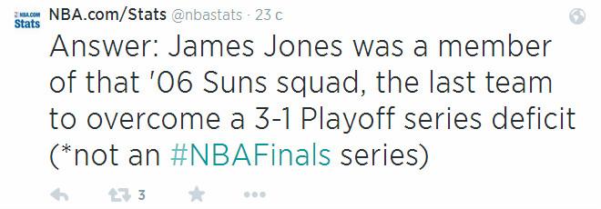 Любопытно, что играющий нынче за «Майами» Джеймс Джонс был членом того самого «Финикса», отыгравшегося с 1-3. И не только он, но и Борис Диао.