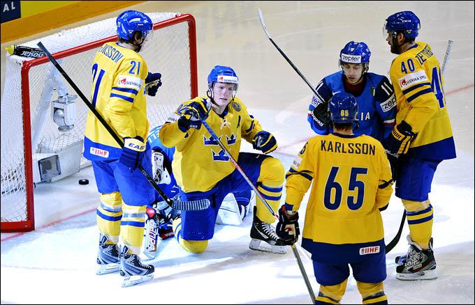 12 мая 2012 года. Стокгольм. Чемпионат мира. Групповой турнир. Италия — Швеция — 0:4