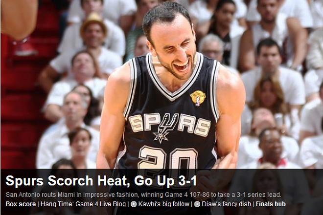NBA: «Спёрс» огорошили «Хит» и повели 3-1 в серии»