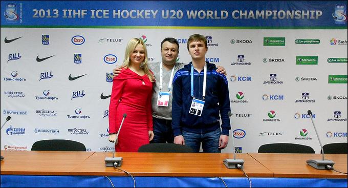 Новогодний привет из Уфы: Мария Роговская, Максим Лебедев и Александр Рожков