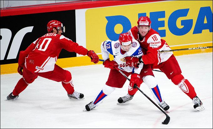 Павел Дацюк против сборной Дании