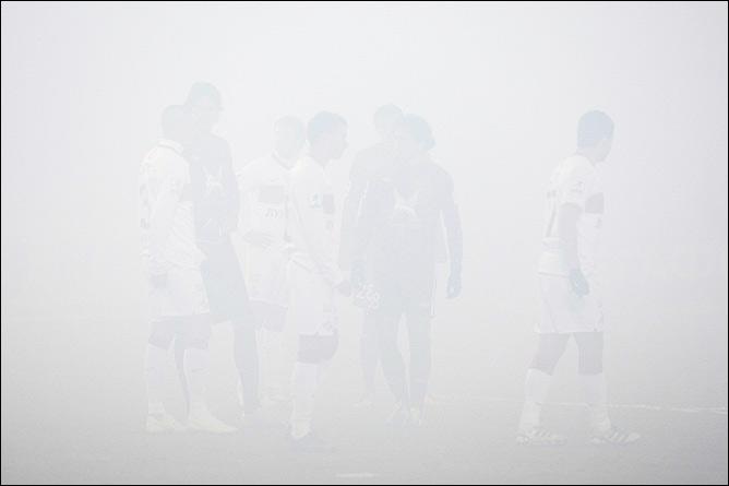 Футбол в дыму