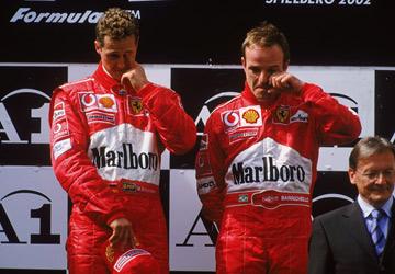 Шумахер и Баррикелло на Гран-при Австрии-2002