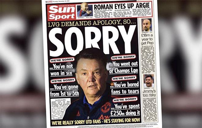 Фото обложки газеты с извинениями