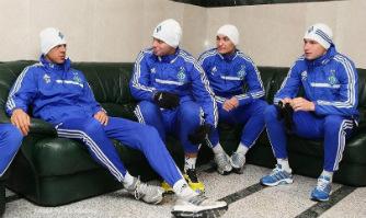 Хачериди, Рыбка, Макаренко и Цуриков перед первой тренировкой