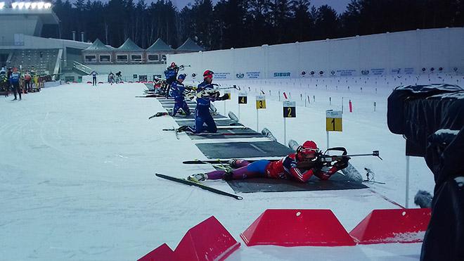 Ольга Якушова на официальной тренировке