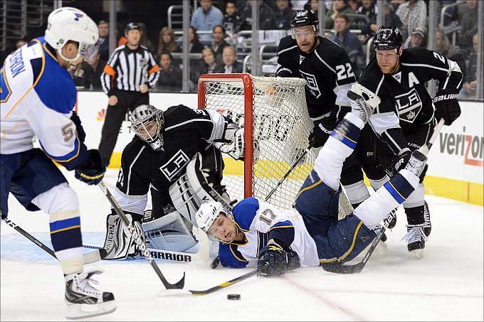 """4 мая 2012 года. Лос-Анджелес. Плей-офф НХЛ. 1/4 финала. """"Лос-Анджелес Кингз"""" — """"Сент-Луис Блюз"""" — 4:2"""