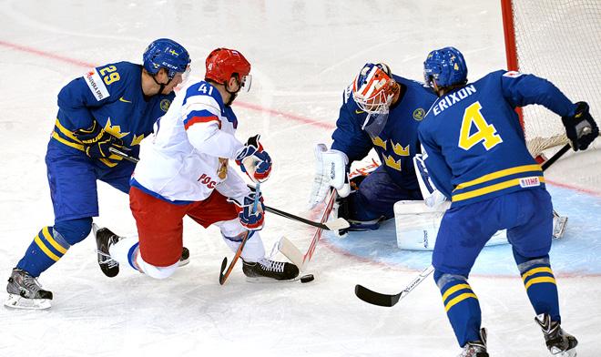 24 мая 2014 года. Минск. Чемпионат мира. 1/2 финала. Россия — Швеция — 3:1.