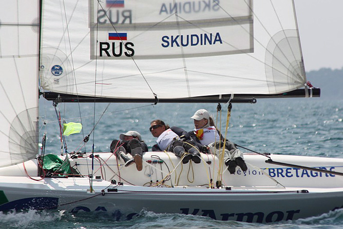Экипаж Екатерины Скудиной на Кильской регате показал блестящий результат