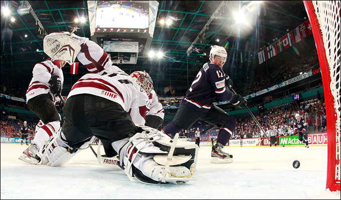 5 мая 2013 года. Хельсинки. Чемпионат мира. Групповой турнир. Латвия — США — 1:4