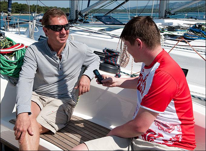 """Шпипер яхты """"Вивиана"""", выигравшей четыре гонки из четырёх, Евгений Никифоров"""