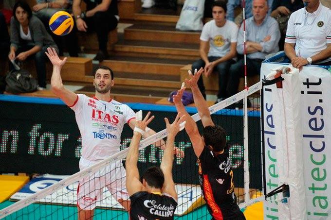 """В первой туре лидер """"Трентино"""" Матеи Казийски не сумел показать свой лучший волейбол"""