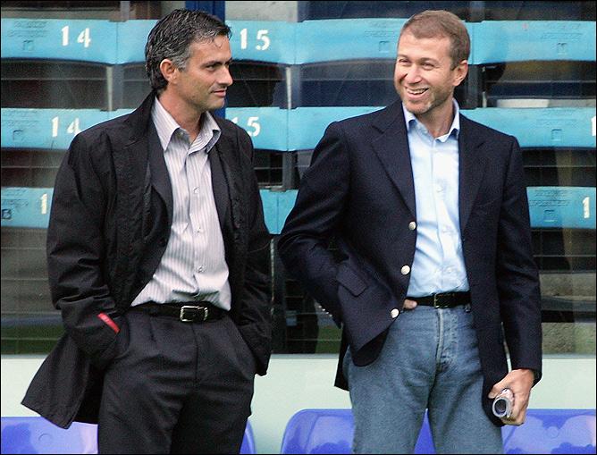 Жозе Моуринью и Роман Абрамович