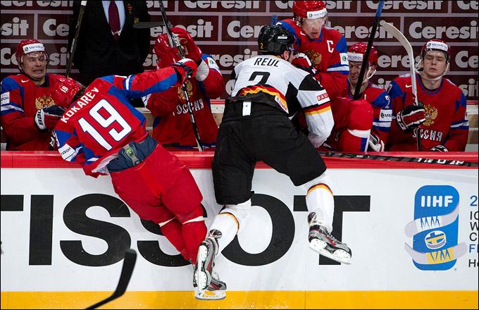 8 мая 2012 года. Стокгольм. Чемпионат мира. Групповой турнир. Россия — Германия — 2:0