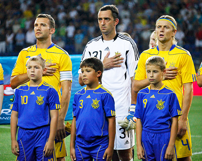 В сборной Украины