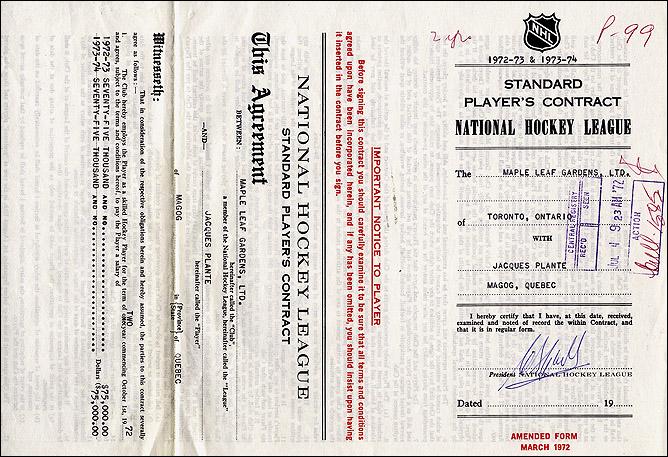 История Кубка Стэнли. Часть 64. 1965-1966. Последний контракт.