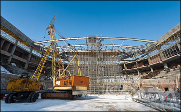 """Новая арена """"Лады"""" строится"""