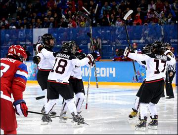 11 февраля 2014 года. Сочи. XXII Зимние Олимпийские игры. Хоккей. Женщины. Групповой этап. Россия — Япония — 2:1. Сборная Японии сравнивает счёт