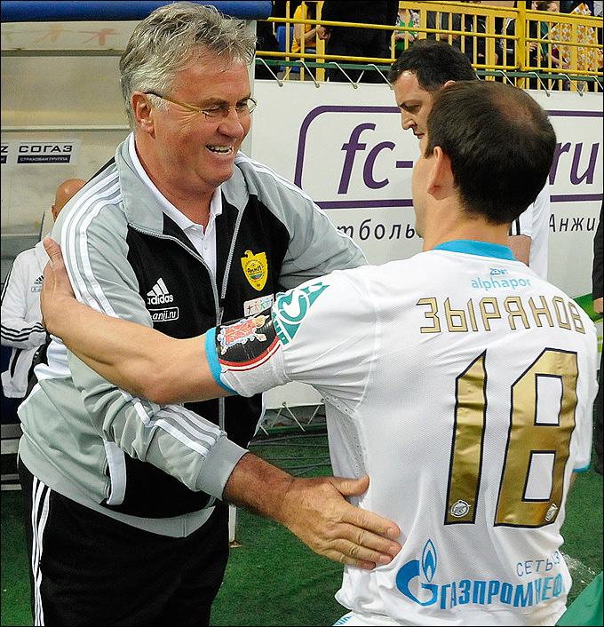 Гус Хиддинк и Константин Зырянов