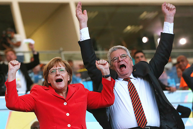 Канцлер Германии Ангела Меркель и президент Германии Йоахим Гаук