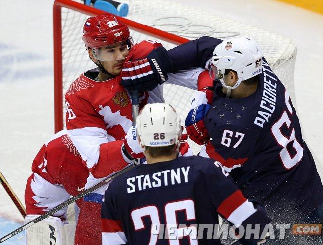 Американцы выиграли по буллитам у сборной России — 3:2