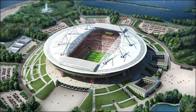 """Санкт-петербургская """"Газпром-Арена"""" вместимостью без малого 70 тысяч зрителей с удовольствием примет хоккей."""