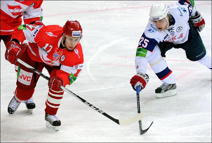 Артём Воронин в матче против СКА