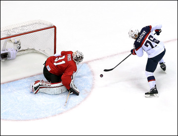 21 февраля 2014 года. Сочи. XXII зимние Олимпийские игры. Хоккей. 1/2 финала. США — Канада — 0:1