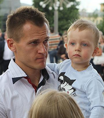 Артём Ребров с сыном