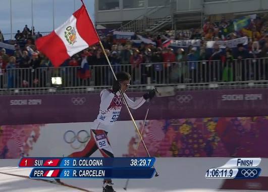 Лыжник из Перу добрался до финиша