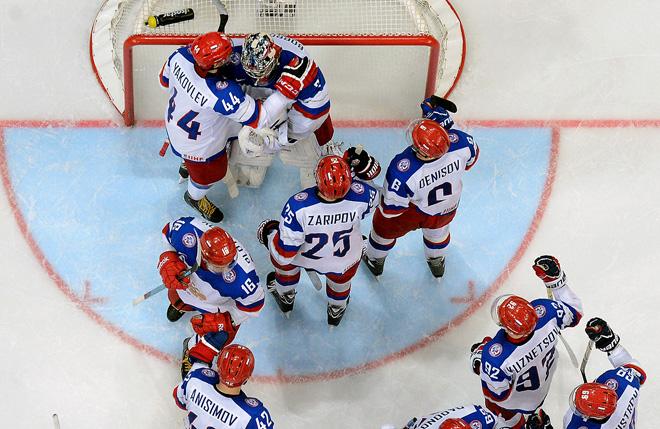 Сборная России в четвертьфинале играет второй по порядку