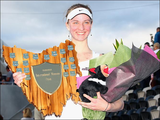 Мона Бартель выиграла свой первый турнир WTA.