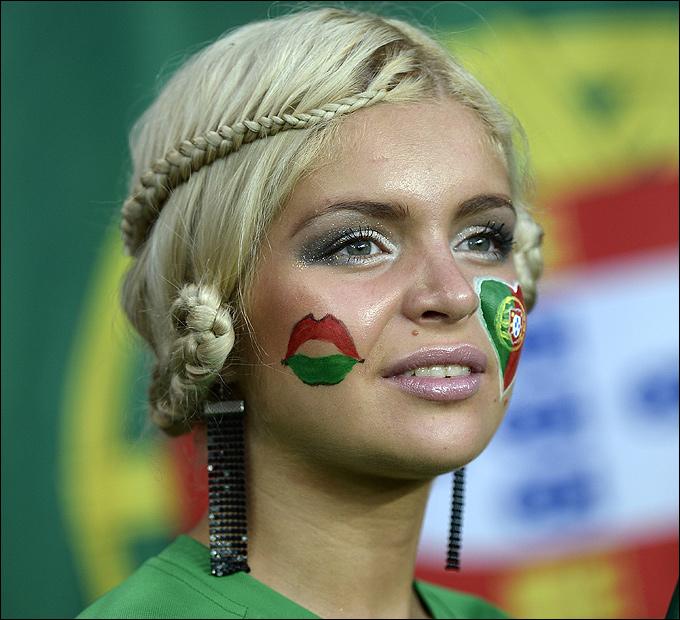 Болельщица сборной Португалии