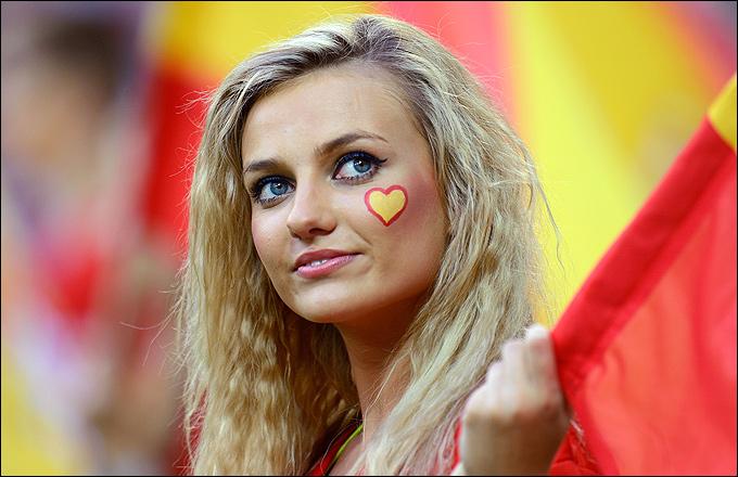 Болельщица сборной Испании