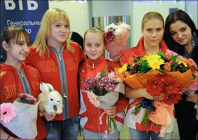 Женская сборная России: Комова, Набиева, Иньшина, Афанасьева, Мустафина