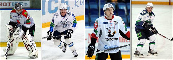 Лучшие игроки января (слева направо): Теэму Лассила, Кевин Даллмэн, Евгений Кузнецов и Станислав Бочаров