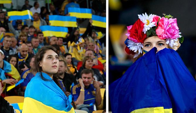 Украинцы неистово поддерживали сборную весь год